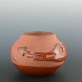juanita-pena-red-carved-avanyu1c