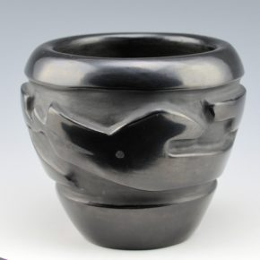 Tafoya, Lee & Betty Tafoya – Bowl with Carved Avanyu (1970's)