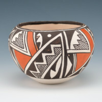 Lewis, Lucy – Bowl with Rain & Lightning Designs