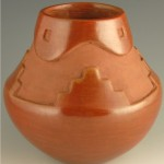 Maria Julian Red Carved Jar1