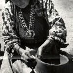 Maria Martinez Making Pottery