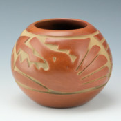 Medicine Flower, Grace – Carved Bowl with Avanyu