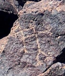 Human figure petroglyp