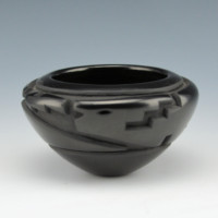 Garcia, Effie – Bowl with Carved Avanyu
