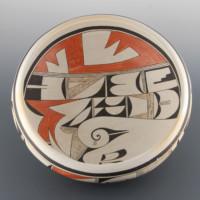 "Navasie, Joy ""Frogwoman"" – Large Open Bowl with Bird Designs"