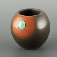 Tse-Pe, Dora – Black & Sienna Miniature Bowl