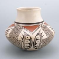 "Naha, Helen ""Feather Woman – Jar with Bat Wing Design"