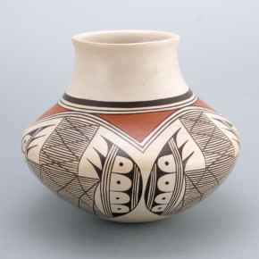 "Naha, Helen ""Feather Woman – Jar with Bat Wing Design"