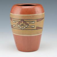Gutierrez, Lela – Polychrome Jar with Avanyu Medallion (c. 1930's)