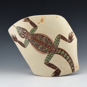 Begaye, Nathan – Tile with Polychrome Lizard (2000)