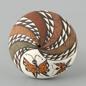 Lewis-Garcia, Diane – Seedpot with Butterflies