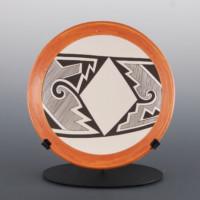 Lewis, Sharon – Plate with Rain Design
