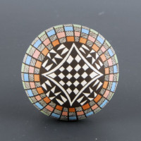 Lewis, Sharon – Seedpot with Checkerboard Pattern