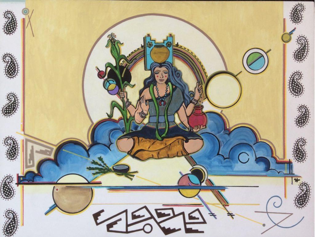 7. Lakshmi painting