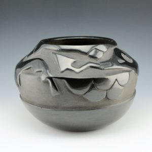 Blue Corn – Bowl with Carved Avanyu (1950's)