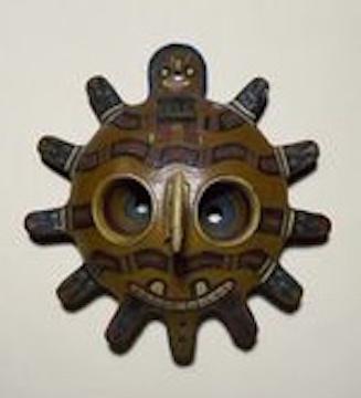 Paracas ceramic mask