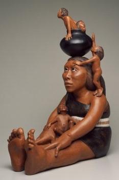 R Swentzell sculpture