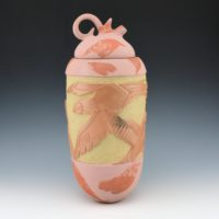 Folwell, Susan – Lidded Jar with Carved Birds