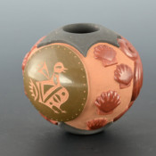 Youngblood, Nancy & Russell Sanchez – Bowl with Bird Medallion & Water Swirls