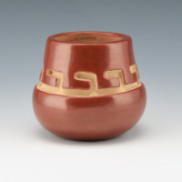Archuleta,  Mary Ester – Red Bowl with Walking Bear Paw Design
