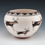Lewis, Emma – Bowl with Heartline Deer