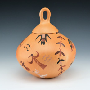 Tahbo, Mark  – Hopi Birds Lidded Bowl (2003)