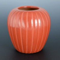 Baca, Alvin – Red Melon Jar with 25 Ribs