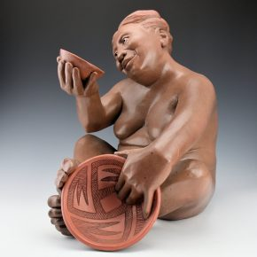 "Swentzell, Roxanne – ""Admiration"" Original Clay Figure"