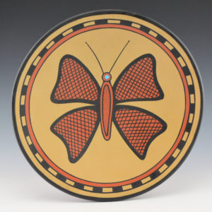 Gonzales, Cavan  – Polychrome Plate with Butterfly
