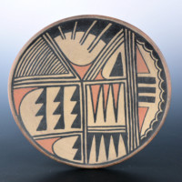 Aguilar, Joe – Polychrome Plate with Feather Designs
