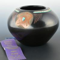 Tafoya, Juan – Large Bowl with Avanyu & Hei-Shi (1980)