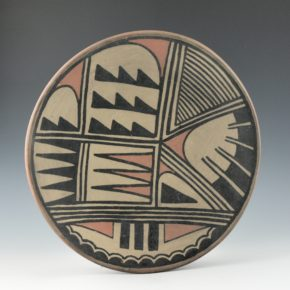 Aguilar, Joe – Polychrome Plate with Feather Designs (1950's)