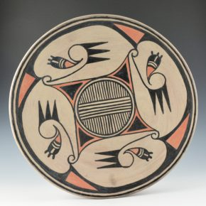 Aguilar, Joe – Whirling Water Design Polychrome Plate (1950's)