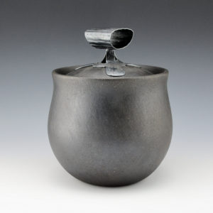 "McHorse, Joel — ""Deconstruction"" Mica Bowl w/ Silver Lid"