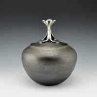 """McHorse, Joel — """"Silver Flower"""" Lidded Jar"""
