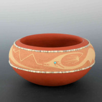 Gonzales, John – Red Bowl with Avanyu (1998)
