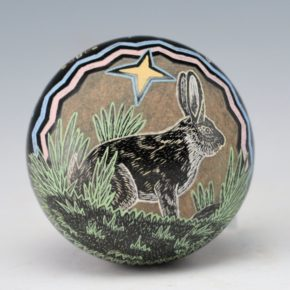 Lonewolf, Greg – Cottontail Rabbit Black Seedpot