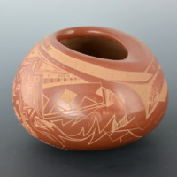 Folwell, Jody – Asymmetric Bowl with Corn Designs