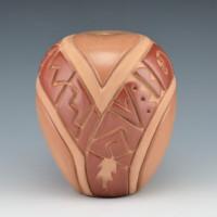 Tafoya-Sanchez, Linda –  Red & Tan Shawl Design Jar