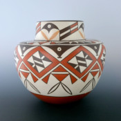 Early, Max – Jar with Plant & Geometric Designs