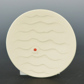 Duwyenie, Preston – White Shifting Sands Plate with Coral