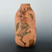 Folwell, Susan – Tall Jar with Relief Carved Birds