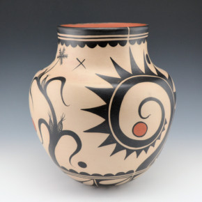 Ortiz, Virgil – Traditional Jar with Corn & Wildflower Designs