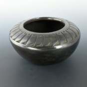 Tafoya, Camilio – Large Carved Bowl with Feather Design (1960's)