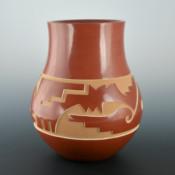 Whitegeese, Daryl – Jar with Old Style Avanyu