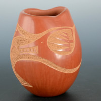 Tse-Pe, Jennifer Sisneros – Asymmetrical Bowl with Avanyu