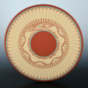 Gonzales, John – Plate with Avanyu & Feather Designs