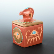 Sanchez, Russell  – Bear Lid Box with Bear Medallions