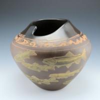 Folwell, Jody & Susan – Asymmetrical Jar with Fish