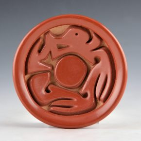 Naranjo, Veronica – Carved Plate with Avanyu Design